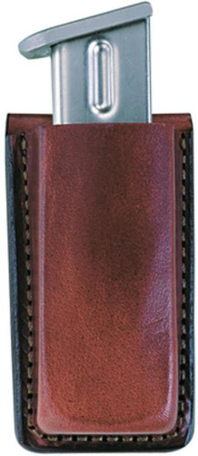 """Bianchi 20A Open Mag Pouch Colt Comm/Govt Up to 1.75"""" Leather Tan"""