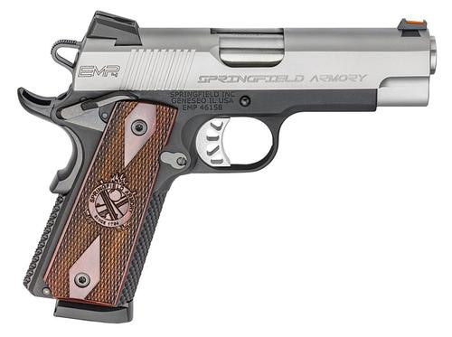 """Springfield 1911 EMP Lightweight Champion 9mm, 4"""", 10rd, Cocobolo Grips, Stainless Steel"""