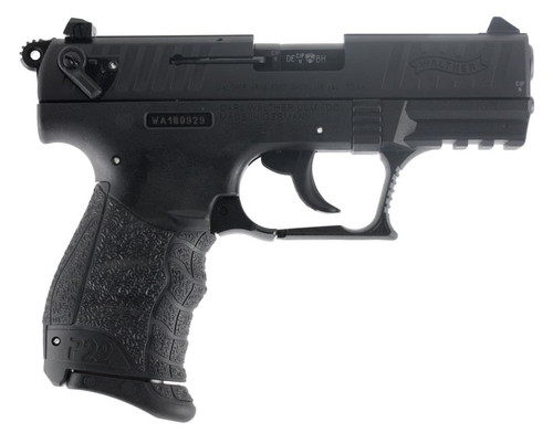 "Walther P22QD .22LR 3.42"" Threaded Barrel Black Finish Picatinny Rail 10rd Mag"