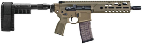 "Sig MCX Virtus Pistol .300 AAC Blackout 9"" Barrel M-LOK Folding SBX Pistol Stabilizing Brace Flat Dark Earth 30rd Mag"