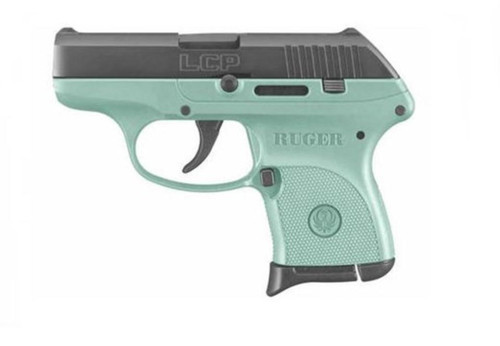 """Ruger LCP 380acp 2.75"""" Barrel Turquoise Frame 6rd Mag"""