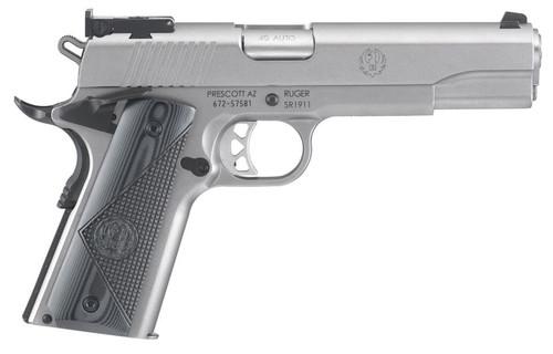 "Ruger SR1911 Target 45 ACP 5"" Barrel SS G10 Grips 8rd Mag"