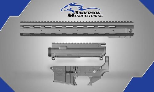 Anderson AR-15 AM-15 Tungsten Kit Upper, Lower, Handguard Tungsten Cerakote