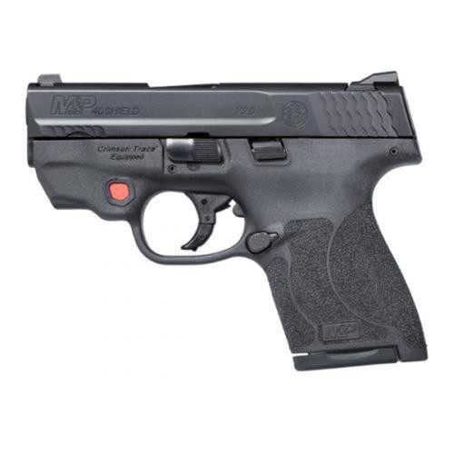 "Smith & Wesson M&P40 Shield M2.0, .40 S&W,, Integrated Crimson Trace Laser, 3.1"", 6/7rd, NO THUMB SAFETY"
