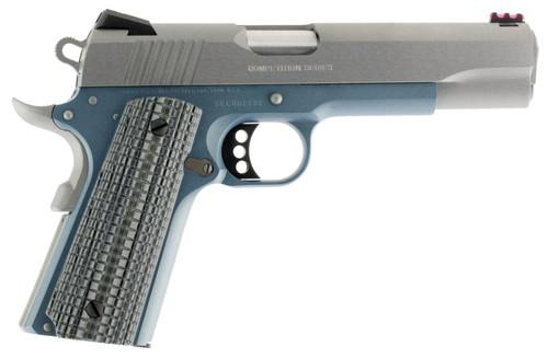 "Colt Competition Govt 45 ACP, 5"" Barrel Blue Titanium Finish, G10 Grips 8Rd Mag"
