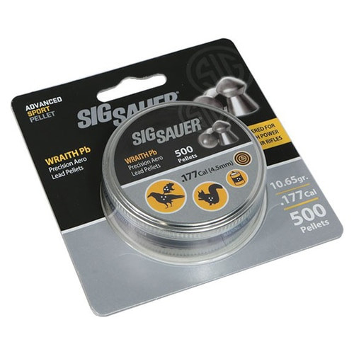 Sig Pellet, .177 Cal, Wraith Lead, 500 Count, Blister Pack