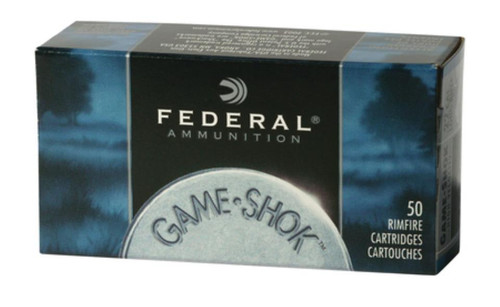 Federal Game-Shok 22LR Hyper Velocity 31gr, Copper Plated Hollow Point, 50rd/Box