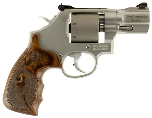 "Smith & Wesson Model 986 Performance Center SA/DA 9mm, 2.5"", 7rd, Wood Grip"
