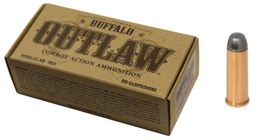 Buffalo Cartridge Outlaw 44-40 Winchester 200gr, Lead Round Nose Flat Point 50rd/Box