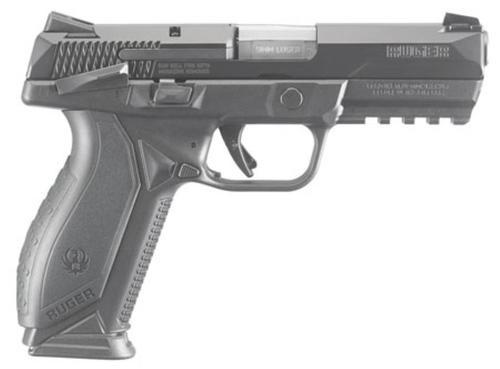 """Ruger American 9mm, 4.2"""", Novak Sights, Black Nitride, Manual Safety, 10rd"""