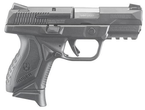 "Ruger American Compact 9mm, 3.5"", 10rd, Novak Sights, Black Nitride"