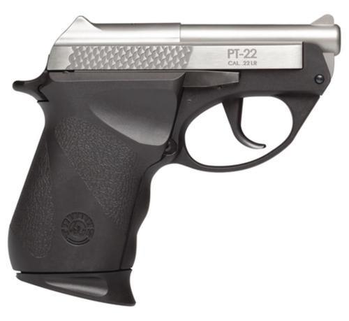 "Taurus PT22, Sub-Compact, 22 LR, 2.8"" Barrel, Polymer Frame, Black/Stainless Finish, 8Rd, 1 Magazine"