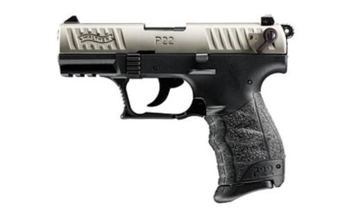 "Walther P22 QD 22 (LR) 3.42"" Barrel Nickel Slide 10rd Mag"