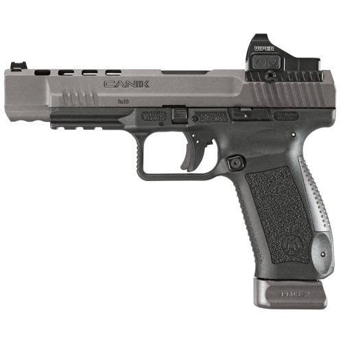 "Canik TP9SFx 9mm, 5.2"" Match Bbl, Tungsten Gray, 2x20rd Mags, Vortex Viper Sight"