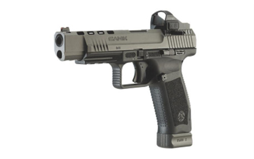 "Century CANIK TP9SFx 9MM, 5.2"" Match Grade Barrel Tungsten Gray W/Two 20rd Mags, Holster, Vortex Red Dot Sight"