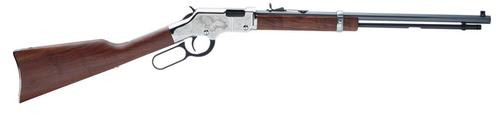 "Henry Golden Boy Silver Eagle 2, 22LR, 20"", American Walnut Stock, Nickel/Blued"