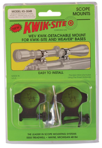 Kwik-Site Weaver Style Rings High to 52mm Objective Black