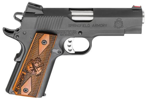 """Springfield Range Officer Champion 1911, 45 ACP, 4"""", 7rd Cocobolo Grip, Parkerized"""