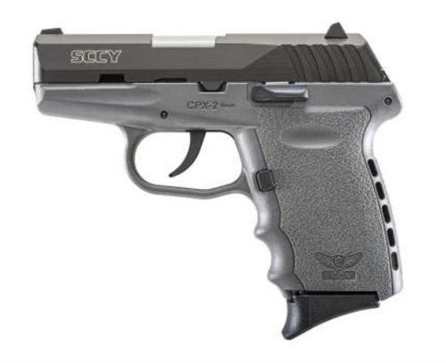 "SCCY CPX-2 9mm, 3.1"" Barrel, Gray Frame, Black Nitride Slide, 10rd"