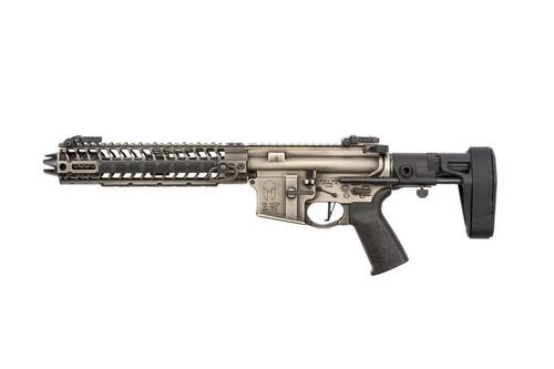 "Spike's Spartan Pistol, Maxim Brace 556/223, 8"" Barrel, 10"" M-LOK Rail, Nickel Boron Battleworn Finish 30rd Mag"