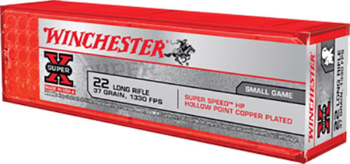 Winchester Super-X 22 LR 37 GR Hollow Point 100 Bx