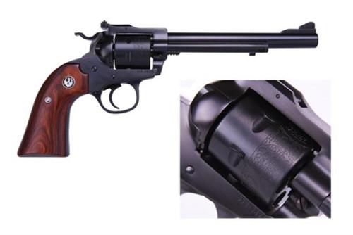 """Ruger Single-Six Bisley 32 H&R Mag, 6.5"""" Barrel, Unfluted Cylinder, Wood Grips, 6rd"""