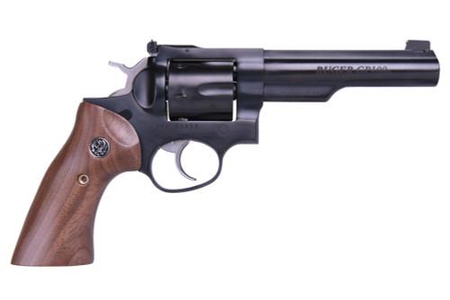"""Ruger GP100 Limited Edition 357 Mag/38 Spc 5"""" Half Lug Barrel Adjustable Sights Wood Grips 6rd"""