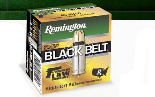 Remington Golden Saber Black Belt 9mm +P 124 Grain Jacketed Hollow Point 20rd Box