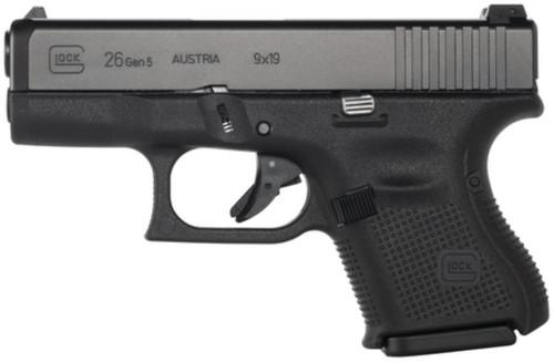 Glock G26 Gen5 9mm Fixed Sights 10rd Mag