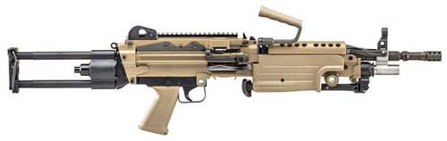 """FN M249S Para 5.56mm, 16"""" Chrome Lined Barrel, Flat Dark Earth Finish, Rotating/Telescoping Metal Buttstock Assembly"""