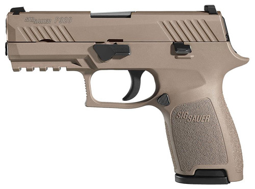 "Sig P320 Compact .40 S&W, 3.9"", FDE PVD Stainless, 4 Point Safety, 2x10rd"