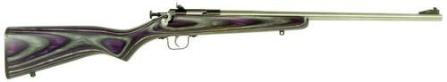 "Keystone Crickett 22LR, 16.12"", Purple Laminate Stock, Stainless Steel"