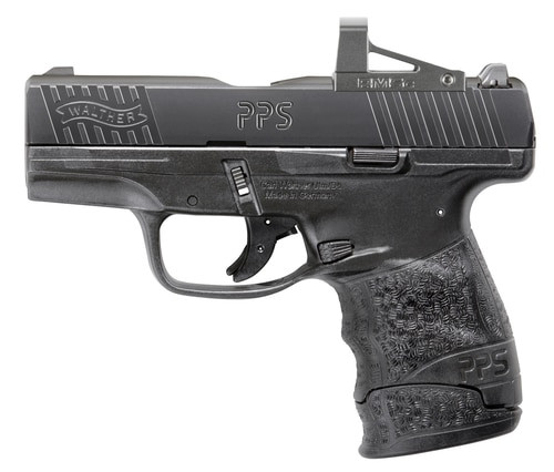 "Walther PPS M2, Optic 9MM, 3.2"" Barrel, RMSc Red Dot Optic 6 & 7rd Mag"