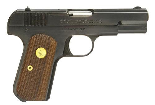 "Colt 1903 Hammerless .32 ACP, 3.75"" Barrel, Walnut Grip, Royal Blue Finish 8rd Mag"