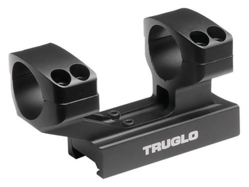 """Truglo Riser Mount 1-Piece Base 30mm Dia 1"""" Black Matte Anodized"""