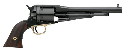 """Taylor's 1858 Remington Conversion Single, .38 Special, 7.3"""", 6rd, Walnut Grips, Blued"""