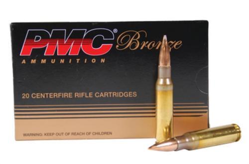 PMC Bronze 308 Win/7.62 NATO 147gr, Full Metal Jacket, 20rd/Box