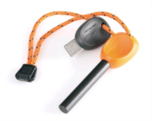 Light My Fire FireSteel Army, Fire Starter With Built-in Emergency Whistle, 12,000 Strikes. Orange