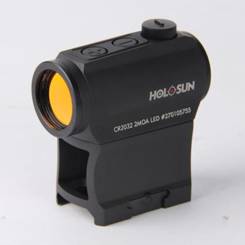 Holosun Micro Red Dot LED Sight (2 MOA) with AR Riser, Auto-Wake Up