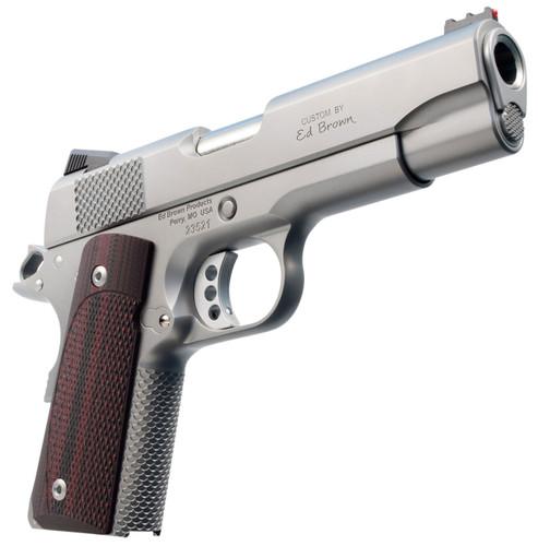 "Ed Brown CCO Single 45 ACP 4.25"" Barrel, FOF Black VZ Grip Stainless Steel, 7rd"