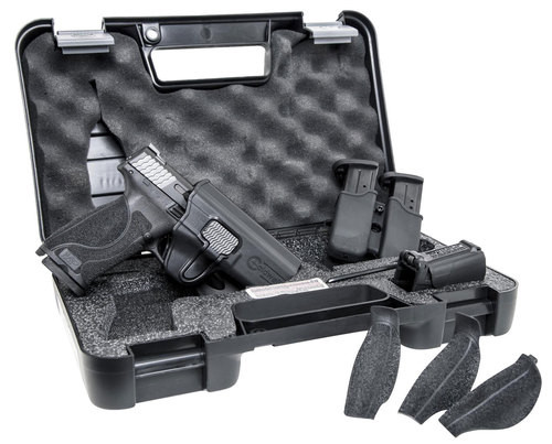 """Smith & Wesson M&P M2.0 Carry & Range Kit 9mm 4.25"""" Barrel, Holster/Magazine Holder/Speed Loader 3- 17rd Mags"""