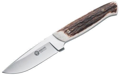 """Boker Arbolito Skinning/Gutting 3.5"""" N695 Drop Point Stag Scales"""
