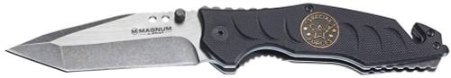 """Boker Magnum Folder 3.5"""" 440 Stainless Tanto Black G10 Black"""