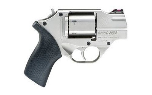 "Chiappa Rhino 200DS, .357 Magnum, 2"" Barrel, 6rd, Nickel Finish, Rubber Grips"
