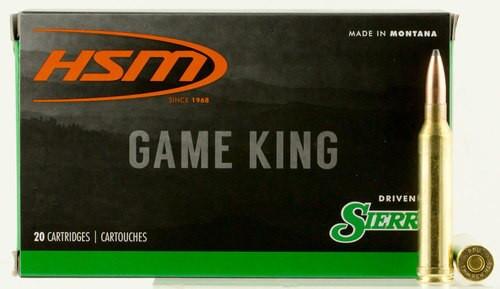 HSM Game King 7mm Rem Mag 160gr, Spitzer Boat Tail 20 Bx/ 20