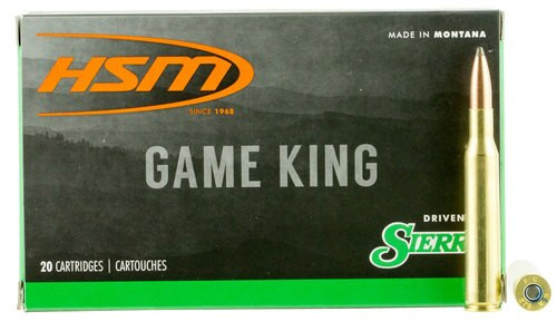 HSM Game King 270 Win 130gr, SBT 20 Bx/ 20 Cs