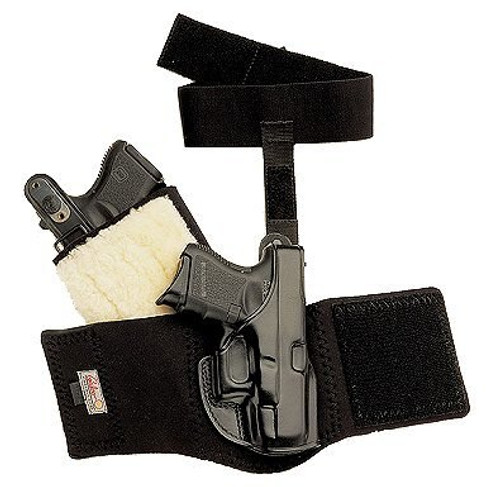 """Galco Ankle Glove S&W J-Frame/Bodyguard 2"""", Charter Undercover 2"""", Black, LH"""