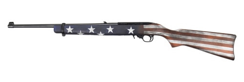 RUGER 10/22 RIFLE - AMERICAN FLAG CERAKOTE - SATIN BLACK BARREL