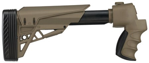 ATI Stikeforce Shotgun Stock Moss/Rem/Win 12 Ga Adjustable Side Folding Tactlite Shotgun Stock, Scorpion Recoil System In Flat Dark Earth Flat Dark Earth