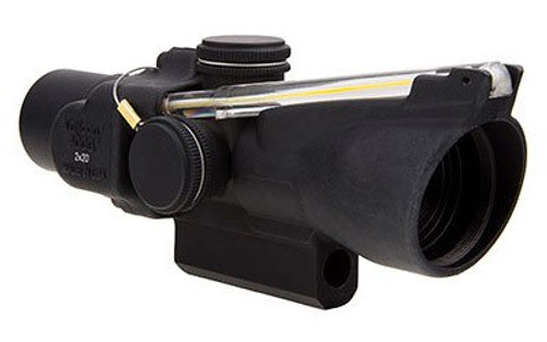 Trijicon 2x20 Compact ACOG Scope Dual Illuminated Amber 9.2 MOA Triangle Reticle, M-16 Carry Handle Base and Mounting Screw